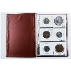 Starter Coin Collection Stock Book (18) Coins  with Silver