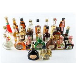 25pc Collection Mini Bar Bottles Estate -  Airliners would serve these many years ago.