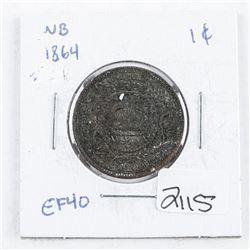 New Brunswick 1864 Large Cent EF40