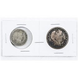 Pair USA 1906 50 Cent and 1907 25 cent