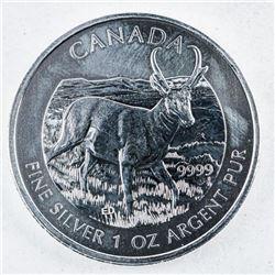 RCM Antelope 5.00 Coin .999 Fine Silver 1oz