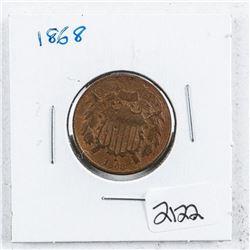 1868 USA 2 Cents
