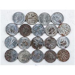 Lot (20) Canada 1944V Nickels