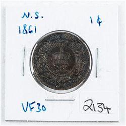 Nova Scotia 1861 Large Cent VF30