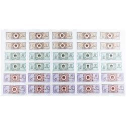 Collection - China Notes 10 of each - 2 Yi  Jiao, 2 ER Jiao and 5 WU Jiao. GEM UNC All  sets in Sequ