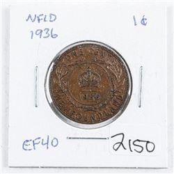 1936 NFLD Large Cent EF40