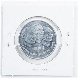 Apollo II 'July 1969' 1st Man on the Moon  Landing. Aluminum Medal