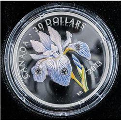 RCM 'Iris Versicolor' .999 Fine Silver $20.00  Coin LE