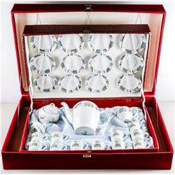 German 25pc Fine Porcelain Demi Tasse Set  with Case (SXR)
