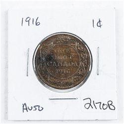 Canada 1916 Large Cent AU50
