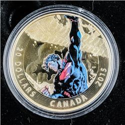 RCM - Superman Unchained # 2 .9999 Fine  Silver $20.00 Coin LE