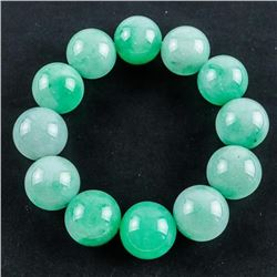 Estate Jade 40mm Bead-Flex Bracelet
