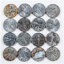 Lot (16) Canada 1944V Nickels