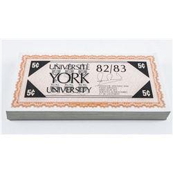Estate Brick (100) York University 5 cent  Vouchers
