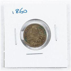 USA Indian Head 1 Cent 1860 VF30