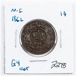 Nova Scotia 1862 Large Cent G4 NET