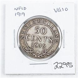 NFLD 1919 50 Cents VG10