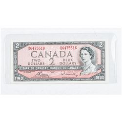 Bank of Canada 1954 2.00 Modified Portrait  Note. CH-UNC