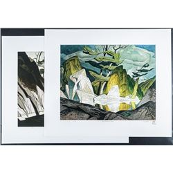 A.J. Casson (1898-1992) 'The White Series' 2  Images 18x21 Unframed. Rare no. 1/250 Edition