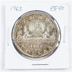 1963 Canada Silver Dollar EF40