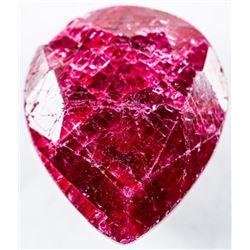 Loose Gemstone 8.47ct Pear Cut Ruby. TRV:  $2540.00