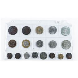 Group of (18) International Coins Mixed