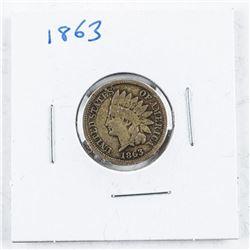 USA Indian Head 1 Cent 1863