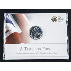 Royal Mint L20 .9999 Fine Silver Coin BU 'The  George and The Dragon' FACE 34.00 CAD