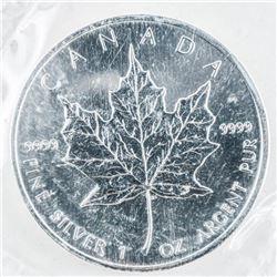 RCM 2005 Maple Leaf .9999 Fine Silver 5.00  Coin Original Mint Wrap
