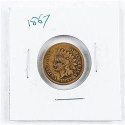 USA Indian Head 1 Cent 1867 VG8