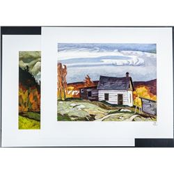 A.J. Casson (1898-1992) 'Back Country' 2  Images 18x21 Unframed. Rare no. 5/250 Edition