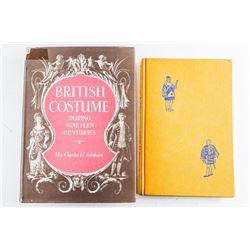 Estate Lot (2) Books British Costumes - 19th  Century Plus ' A Glance at Heraldry'