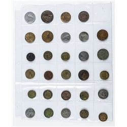 Group of (30) World Coins
