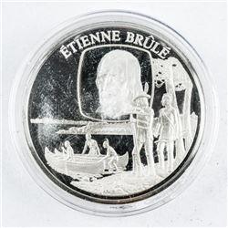 Etienne Brule - Sterling Silver Medallion