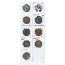 Group of (9) Canada - Tokens-Medals