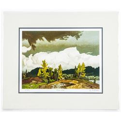 A.J. Casson (1898-1992) Litho 'Goose Lake' LE  No. 1-975 10x13 Unframed. Matted