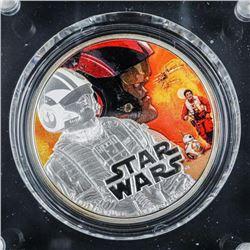 STAR WARS .9999 Fine Silver Coin 'Poe  Dameron' LE Display