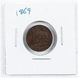 USA Indian Head 1 Cent 1869 VG8