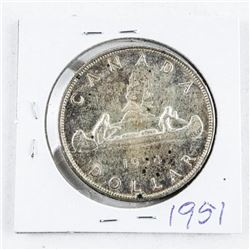 1951 Canada Silver Dollar EF40