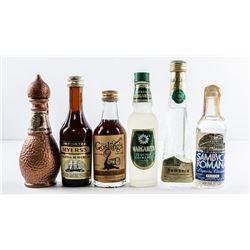 Lot (6) Mini Bar Bottle Full, Used on Airline  Flights etc