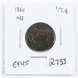 Nova Scotia 1861 1 Cent EF45