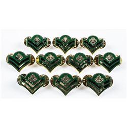 Lot (10) Army Corp Rank Pins
