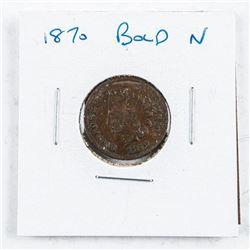USA Indian Head 1 Cent 1870 Bold G4