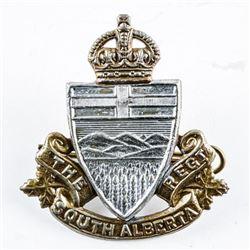WWII South Alberta Regt. Cap Badge