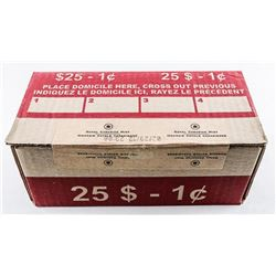 Scarce - Original Seal and Date Stamped Mint  Box of 2012 Penny Rolls. Royal Canadian Mint.  (MXR).