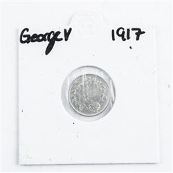 1917 Silver 5 Cents George V