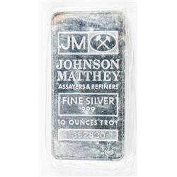 Vintage JM Collector Bullion Bar 10oz Troy  Serialized. No Longer Produced