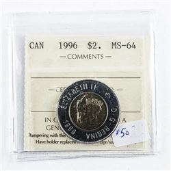 1996 Canada 2.00 Coin MS64