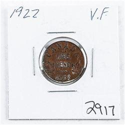 Canada 1922 1 Cent VF