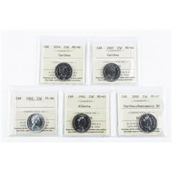 Group (5) Canada 25 Cent. ICCS.